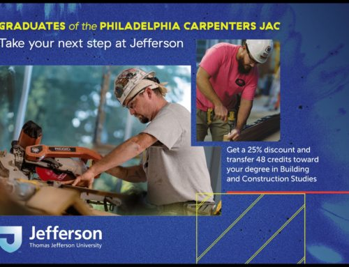 Philadelphia Carpenters JAC Graduates Can Earn Degrees Faster
