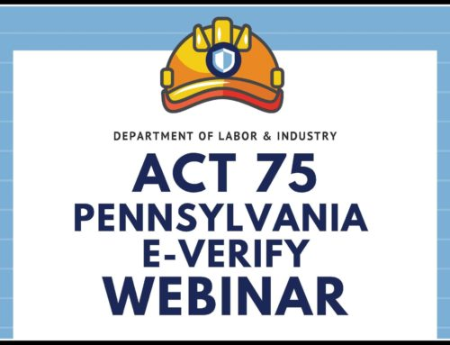Act 75: Pennsylvania's Construction Employee Verification Act Webinar